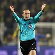 Referee Cuneyt Cakir during their Turkish super league soccer match Fenerbahce between Medipol Basaksehir at the Sukru Saracaoglu stadium in Istanbul Turkey on Sunday 13 December 2015. Photo by Kurtulus YILMAZ/TURKPIX