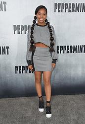 August 30, 2018 - Los Angeles, California, USA - 8/28/18.Kyla Drew at the premiere of ''Peppermint'' held at the Regal Cinemas LA Live in Los Angeles, CA, USA. (Credit Image: © Starmax/Newscom via ZUMA Press)