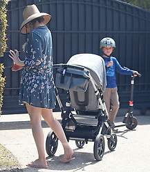 Kate Hudson take kids for a walk in Los Angeles ***SPECIAL INSTRUCTIONS*** Please pixelate children's faces before publication.***. 22 Mar 2020 Pictured: Kate Hudson; Danny Fujikawa. Photo credit: ENEWS/MEGA TheMegaAgency.com +1 888 505 6342