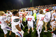 AC Flora Falcons players celebrate with students following their State Championship win over the North Myrtle Beach Chiefs at Benedict College.