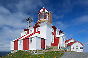 Cape Bonavista Lighthouse on Bonavista Bay in the Atlantic Ocean<br />