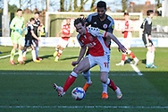 Fleetwood Town's midfielder Josh Morris (11) in possession during the EFL Sky Bet League 1 match between Fleetwood Town and Accrington Stanley at the Highbury Stadium, Fleetwood, England on 27 February 2021.