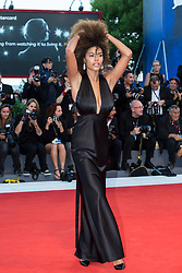 """Tina Kunakey arriving to the premiere of """"Mother"""" as part of the 74th Venice International Film Festival (Mostra) in Venice, Italy on September 5, 2017. Photo by Marco Piovanotto/ABACAPRESS.COM"""