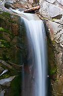 Christine Falls on Van Trump Creek in Mount Rainier National Park, Washington State, USA