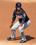 CHICAGO - MAY 23:  Michael Martinez #1 of the Cleveland Indians runs the bases against the Chicago White Sox during game one of a double header on May 23, 2016 at U.S. Cellular Field in Chicago, Illinois.  The White Sox defeated the Indians 7-6.  (Photo by Ron Vesely)   Subject:   Michael Martinez