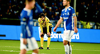 Fotball , 29 . oktober 2017 , Eliteserien , <br /> Sarpsborg - Sandefjord 5-0<br /> <br /> Carlos Javier Grossmüller , Sandefjord depper