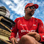Leg 4, Melbourne to Hong Kong, day 12 on board MAPFRE, Guillermo Altadill. Photo by Ugo Fonolla/Volvo Ocean Race. 13 January, 2018.