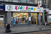 Kids Kemp Childrenswear shop in Whitechapel. Purveyors of chaep children's clothing for many a year. London, UK.
