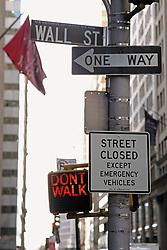 Dec. 14, 2012 - Wall street signs (Credit Image: © Image Source/ZUMAPRESS.com)