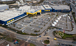 FILE IMAGE © Licensed to London News Pictures. 01/04/2020. London, UK. Cars queue up to get into a newly opened NHS workers coronavirus testing centre opened in the car park of an IKEA store in Neasden, north London. Death rates from the spread of coronavirus continue to climb. Photo credit: LNP