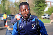 AFC Wimbledon defender Paul Osew (37) arriving for the game during the EFL Sky Bet League 1 match between AFC Wimbledon and Fleetwood Town at the Cherry Red Records Stadium, Kingston, England on 8 February 2020.
