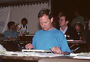 Lucerne, SWITZERLAND.   Correspondent, Robert TREHARNE-JONES, media centre. 1992 FISA World Cup Regatta, Lucerne. Lake Rotsee.  [Mandatory Credit: Peter Spurrier: Intersport Images] 1992 Lucerne International Regatta and World Cup, Switzerland