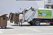 Garbage collection truck. Limassol, Cyprus
