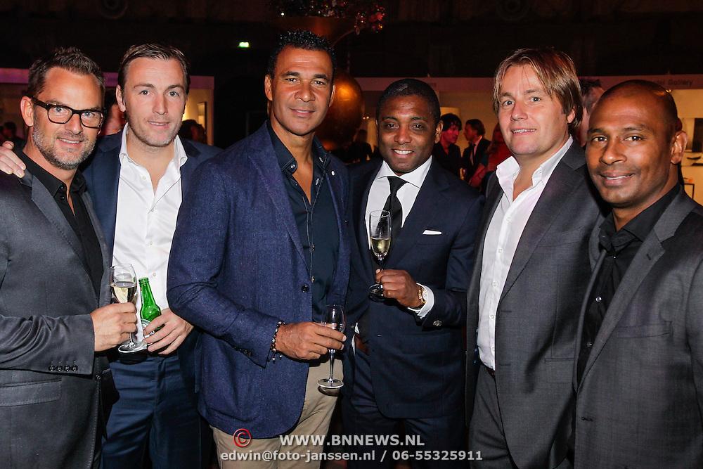 NLD/Amsterdam/20121013- LAF Fair 2012 VIP Night, Ronald de Boer, Ruud Gullit, Brian Roy, Rob Witschge, Aaron Winter, Richard Witschge
