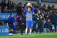 Hartlepool United midfielder Jordan Richards (19) during the EFL Sky Bet League 2 match between Barnet and Hartlepool United at Underhill Stadium, London, England on 29 October 2016. Photo by Jon Bromley.