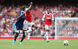 Edward Nketiah of Arsenal is fouled by Bertrand Traore of Lyon - Mandatory by-line: Arron Gent/JMP - 28/07/2019 - FOOTBALL - Emirates Stadium - London, England - Arsenal v Olympique Lyonnais - Emirates Cup
