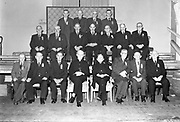 Bishop Mangan with pioneers in the 1950's..Picture by Harry MacMonagle