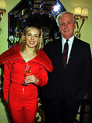 JULIA STEPHENSON grandaughter of beef baron Sir Derek Vestey and her father MR TONY BROWN, at a party in London on 28th October 1999.MYG 30