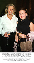 Left to right, COUNTESS MONICA APPONYI and her daughter MISS GERALDINE APPONYI, at a reception in London on 12th December 2000.OKD 55