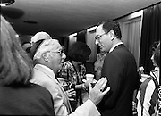 New Israeli Ambassador Meets Jewish Community.(T6)..1989..18.09.1989..09.18.1989..18th September 1989..The newly appointed Israeli Ambassador to Ireland,.Mr Yoav Biran, met with the Jewish Community in Ireland at the Israeli Embassy at Ballsbridge Dublin...Image shows Ambassador Biran taking tea with members of the Irish Jewish Community at the reception in the Embassy of Israel, Dublin.
