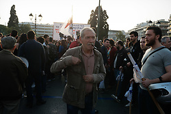April 17, 2018 - Athens, Attica, Greece - Protesters affiliated to the Greek Communist party (KKE) rally  against US-led strikes on Syria, in Athens, Greece on April 17, 2018. (Credit Image: © Gerasimos Koilakos/NurPhoto via ZUMA Press)