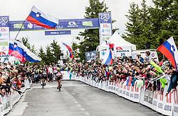 Tadej Pogacar (SLO) of Rog - Ljubljana at finish line during Stage 3 of 24th Tour of Slovenia 2017 / Tour de Slovenie from Celje to Rogla (167,7 km) cycling race on June 16, 2017 in Slovenia. Photo by Vid Ponikvar / Sportida