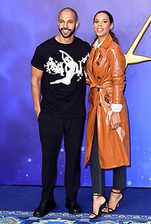 Marvin Humes and Rochelle Humes attending the Aladdin European Premiere held at the ODEON Luxe Leicester Square, London