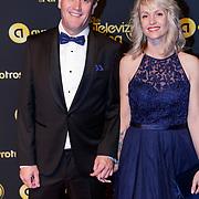 NLD/Amsterdam/20181011 - Televizier Gala 2018, Alberto Stegeman en partner Judith Krom