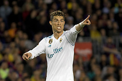 May 6, 2018 - Barcelona, Catalonia, Spain - Cristiano Ronaldo during the spanish football league La Liga match between FC Barcelona and Real Madrid at the Camp Nou Stadium in Barcelona, Catalonia, Spain on May 6, 2018  (Credit Image: © Miquel Llop/NurPhoto via ZUMA Press)