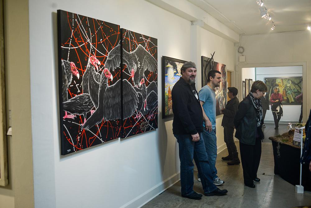 Artwalls at 43 Furnace during Akron Art Prize 2015