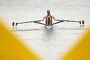 Poznan, POLAND,   ITA LM1X, Franco SANCASSINI moves away from the start, in his heat, at the 2008 FISA World Cup. Rowing Regatta. Malta Rowing Course on Friday, 20/06/2008. [Mandatory Credit:  Peter SPURRIER / Intersport Images] Rowing Course:Malta Rowing Course, Poznan, POLAND