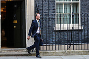 Simon Stevens, the chief executive officer of the NHS Leaving Downing Street, London on Tuesday, March 24, 2020 - after a Cabinet meeting, the day after Prime Minister Boris Johnson put the UK in lockdown to help curb the spread of the coronavirus. (Photo/Vudi Xhymshiti)