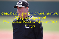 26 April 2015:   Home plate umpire Timothy Catton during an NCAA Division I Baseball game between the Missouri State Bears and the Illinois State Redbirds in Duffy Bass Field, Normal IL