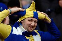 Photo: Daniel Hambury.<br />Arsenal v Cardiff City. The FA Cup. 07/01/2006.<br />A Cardiff fan wearing a jesters hat.