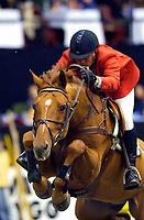 Rikstoto Grand Prix, Oslo Horse Show, Oslo Spektrum 19.10.02 <br /> Saturday, October 19th 2002. SEA WOLF, Esben JOHANNESSEN (NOR)                <br /> Foto: Geir Egil Skog, Digitalsport
