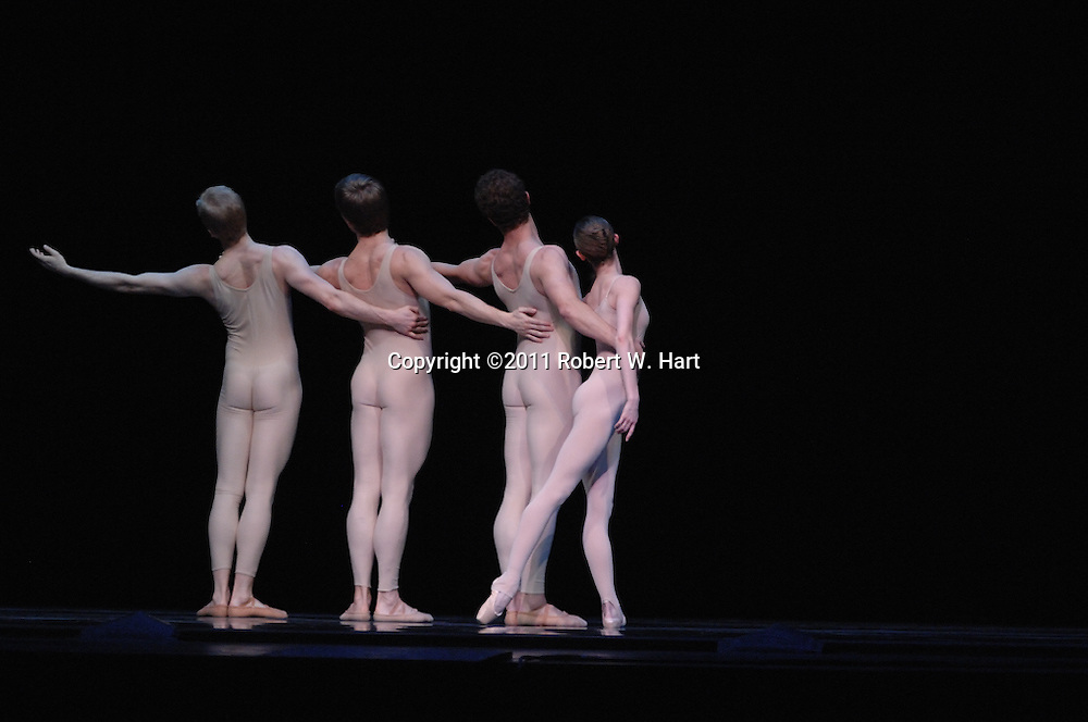 """Texas Ballet Theater dancers perform Ben Stevenson's """"Four Last Songs"""" during a February 17, 2011 dress rehearsal at Fort Worth's Bass Hall."""