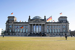 Tourists at an government building, The Reichstag, Berlin, Germany
