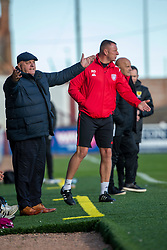 Arbroath's manager Dick Campbell. Arbroath 0 v 2 Clyde, Tunnocks Caramel Wafer Challenge Cup 4th Round, played 12/10/2019 at Arbroath's home ground, Gayfield Park.