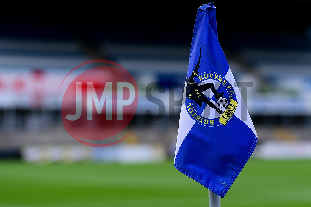A general view of the Corner Flag at the Memorial Stadium  prior to kick off  - Mandatory by-line: Ryan Hiscott/JMP - 28/08/2020 - FOOTBALL - Memorial Stadium - Bristol, England - Bristol Rovers v Cardiff City - Pre Season Friendly