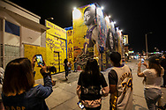 Murals of Kobe Bryant and his daughter Gianna are created all over the city of Los Angeles after their tragic deaths. The murals are now impromptu mourning spots for fans of the Bryants.<br /> 2/1/2020 Los Angeles, CA USA <br /> (Photo by Ted Soqui)