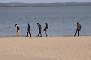 beach with people arcachon bordeaux france