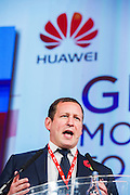 The Hon Ed Vaizey, MP and Minister for Culture, Communications and the Creative Industries adresses the conference. Huawei Global  Broadband Forum, The Queen Elizabeth II centre, Westminster, London, UK 05 Nov 2013.