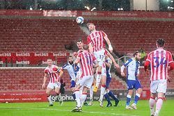 Nathan Collins of Stoke City heads clear - Mandatory by-line: Nick Browning/JMP - 19/12/2020 - FOOTBALL - Bet365 Stadium - Stoke-on-Trent, England - Stoke City v Blackburn Rovers - Sky Bet Championship