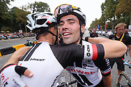 Tom Dumoulin and Laurens ten Dam (NED - Team Sunweb) after the finish in Paris during the 105th Tour de France 2018, Stage 21, Houilles - Paris Champs-Elysees (115 km) on July 29th, 2018 - Photo George Deswijzen / Pro Shots / ProSportsImages / DPPI