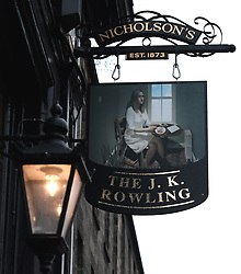 The Sir Arthur Conan Doyle pub has been temporarily renamed The J. K. Rowling as part of a visual art installation between writer Val McDermid, theatre director Philip Howard and Double Take Projections.<br /><br />It is designed to highlight spots around Edinburgh that inspired some of the city's most famous authors.<br /><br /><br />Alex Todd | EEm