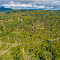 Drone view of Birch Ridge in New Durham, New Hampshire.