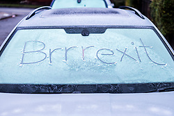 © Licensed to London News Pictures. 17/12/2019. Leeds UK. A Frozen car windscreen in Leeds this morning as the UK prepares for further wind, snow & ice in the coming days. Photo credit: Andrew McCaren/LNP
