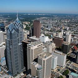Aerial view of Liberty Place, Philadelphia, Pennsylvania