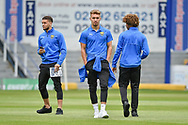 Oxford United Forward, Sam Smith (9) checks the pitch with team mates before kick off during the EFL Sky Bet League 1 match between Portsmouth and Oxford United at Fratton Park, Portsmouth, England on 18 August 2018.