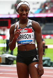 July 22, 2018 - London, United Kingdom - Kendra Harrison of USA  winner of  the 100m Hurdles Women Final race.during the Muller Anniversary Games IAAF Diamond League Day Two at The London Stadium on July 22, 2018 in London, England. (Credit Image: © Action Foto Sport/NurPhoto via ZUMA Press)